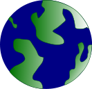 A green and blue planet