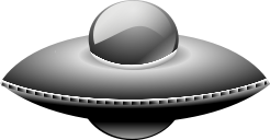 A grey flying saucer